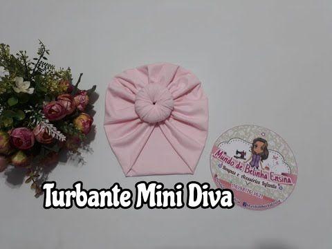 b405b7c2c13c95 Turbante Zoe Mini Diva passo a passo - YouTube | laços | Turbante de ...