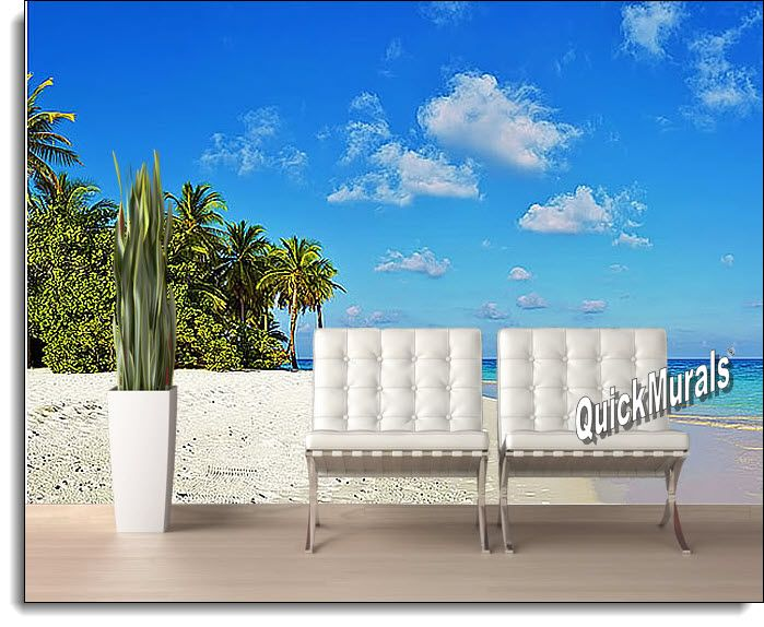 Amazing Tropical Escape Peel And Stick Wall Mural Part 11