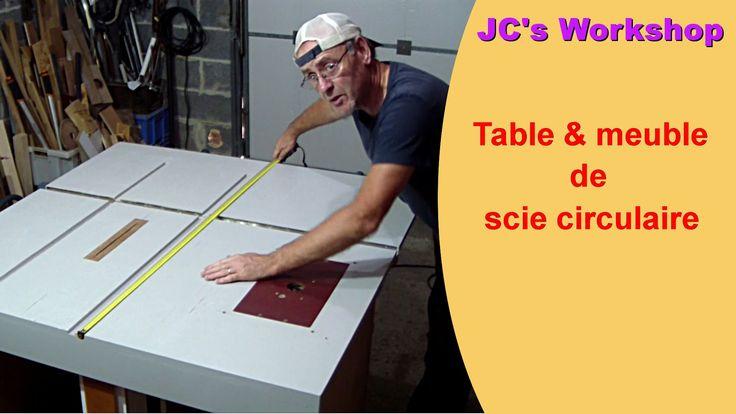 Réalisation d'une table et meuble de scie circulaire fait maison avec ajout…