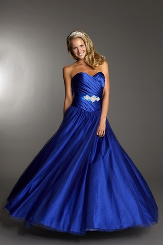 a beautiful royal blue ball gown by tiffanys prom 2014