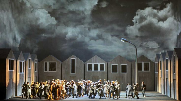 Scene from Macbeth directed by Dmitri Tcherniakov, performed at Bastille Opera, 2009 - Opera