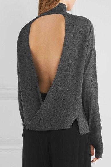 Dark-gray merino wool Slips on 100% merino wool Hand wash