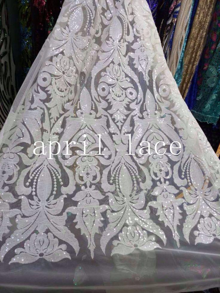 Купить товар5 ярды LJL001 # белый блесток бабочка роскошные цветочной вышивкой мягкой сетки для вечернего платья / свадьба / модный дизайн, Отправить DHL в категории Кружевона AliExpress.             1. Добро пожаловать в ткани магазин                             2.5 двор/много 1 ярд = 0.9144 м