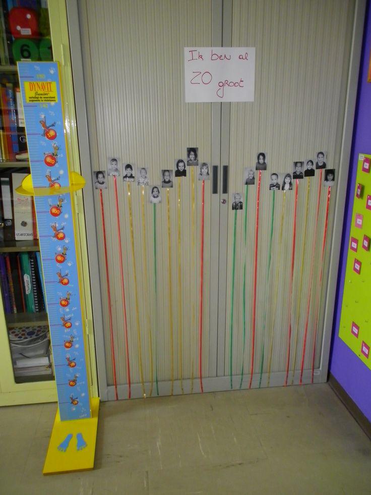 Kleuters meten en vergelijken :) Meer ideetjes rond thema mijn lichaam: http://www.pinterest.com/liestr/