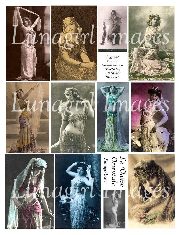 Bellydance #1: La Danse Orientale Digital Collage Sheet