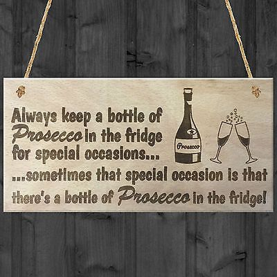 #Prosecco #special #occasions novelty wooden hanging plaque alcohol joke sign gif,  View more on the LINK: 	http://www.zeppy.io/product/gb/2/311537721906/
