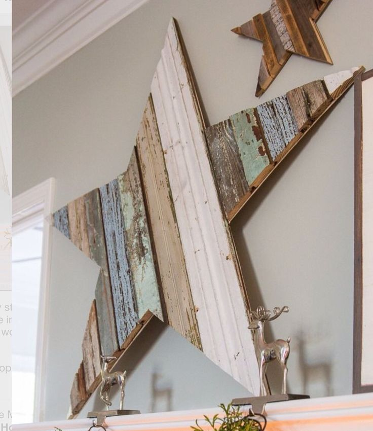 "Love one big ""barn"" star from recycled wood!"