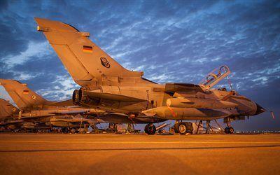Scarica sfondi tornado, german air force, caccia-bombardiere