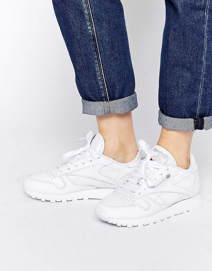 Reebok Classic Leather Sneakers In White Reebok Classic Reebok Classic White White Leather Sneakers