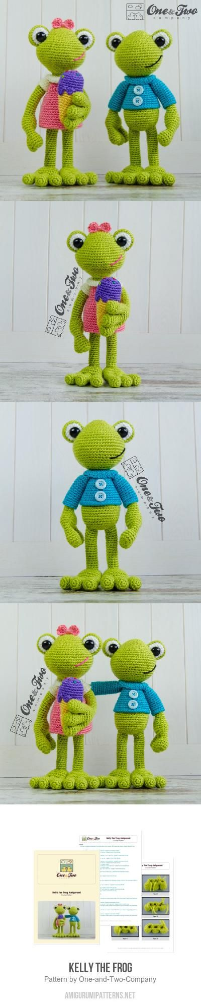 Kelly The Frog Amigurumi Pattern for purchase