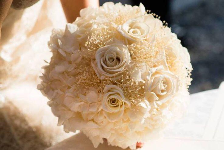 bouquet romantico elegante panna