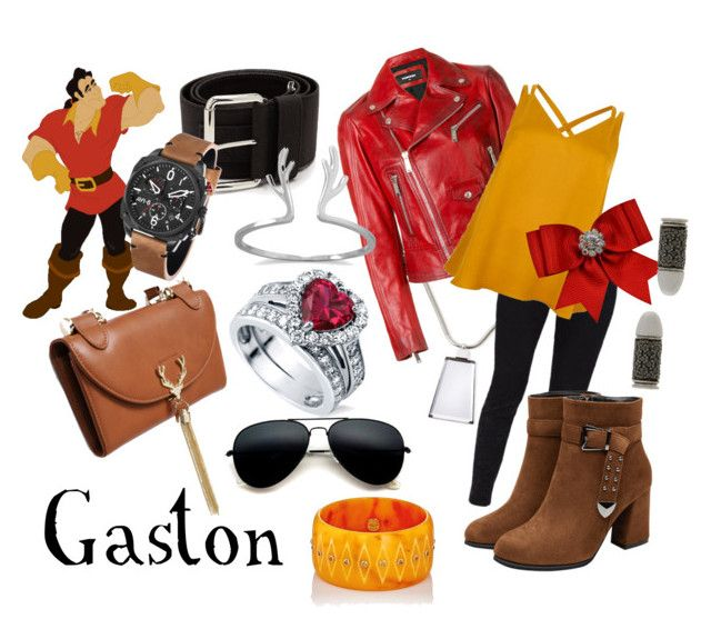 """Gaston"" by sugarsop on Polyvore featuring Lafayette 148 New York, Disney, Miu Miu, Dsquared2, Ted Baker, River Island, BillyTheTree, BERRICLE, AVI-8 and Akillis"