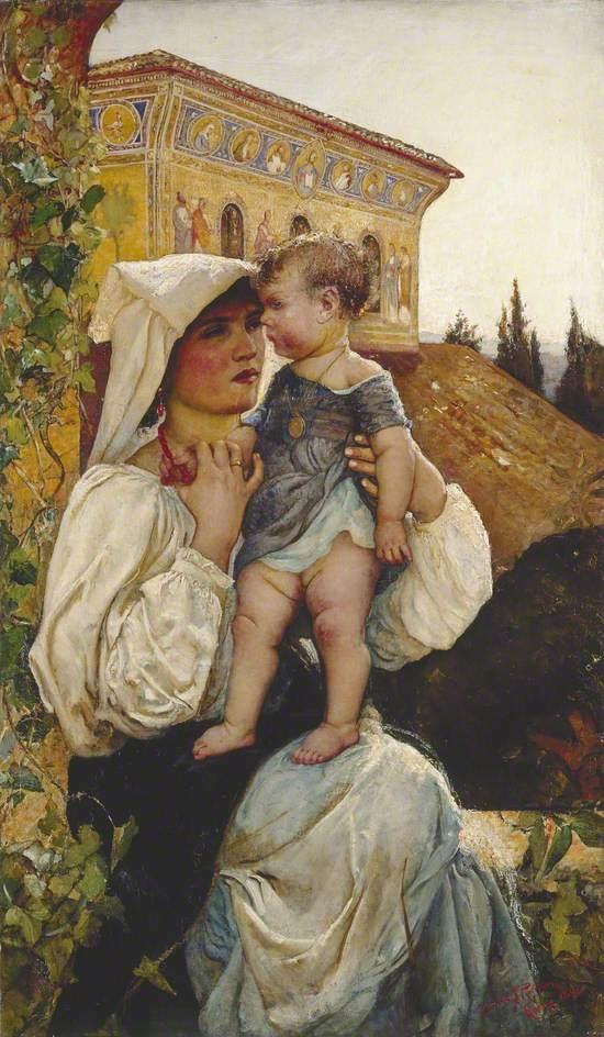 An Italian Mother and Child, 1886 - Annie Swynnerton
