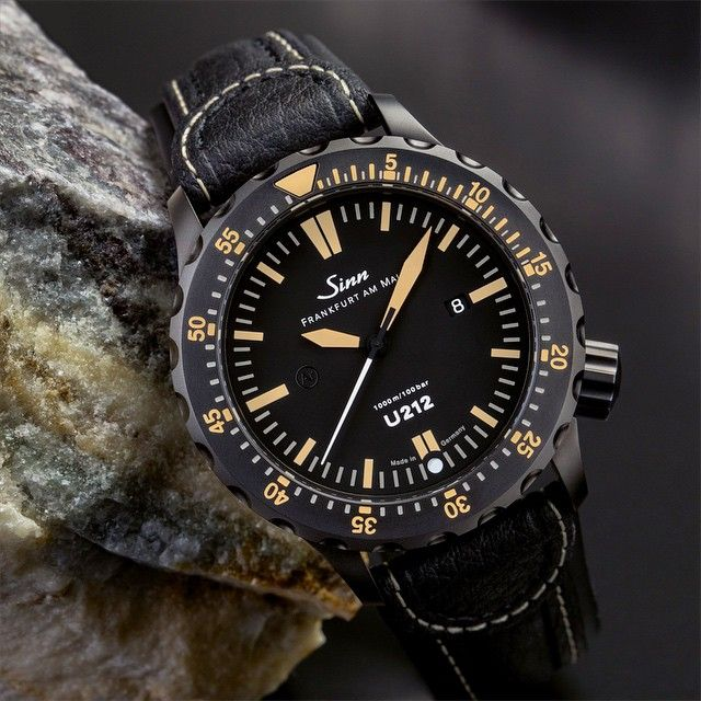 Pretty impressed with the Sinn U212 S E diving watch. High-strength sea-water resistant  steel from a German submarine, Tegiment hardening technology against scratches with black PVD coating, captive safety bezel, Ar-Dehumidifying Technology to avoid the aging of oils due to moisture in the air contained inside, or diffusing into, the watch. Water resistant to 1000 metres / 100 bar. Anti shock, anti magnetic. Limited Edition of 300 pieces.