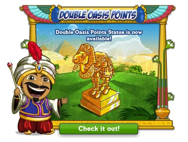 Oasis Gardens: Double Points Statue