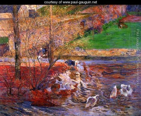 Landscape With Geese - Paul Gauguin