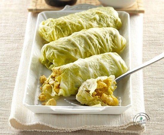 #alimentazionesana: #ricetta di involtini di verza ripieni di pollo al curry     casadivita.despar.it