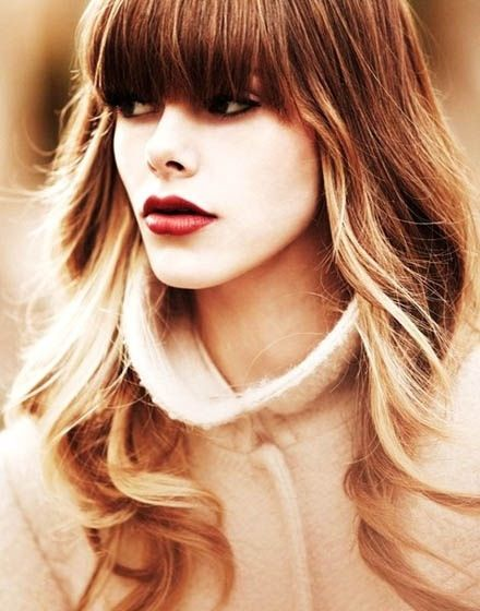 Hair Color Ombre Bangs Hairstyles Pinterest