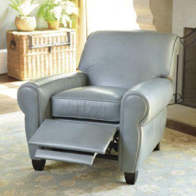 Paris Leather Recliner. #housebeautiful #dreamlivingroom