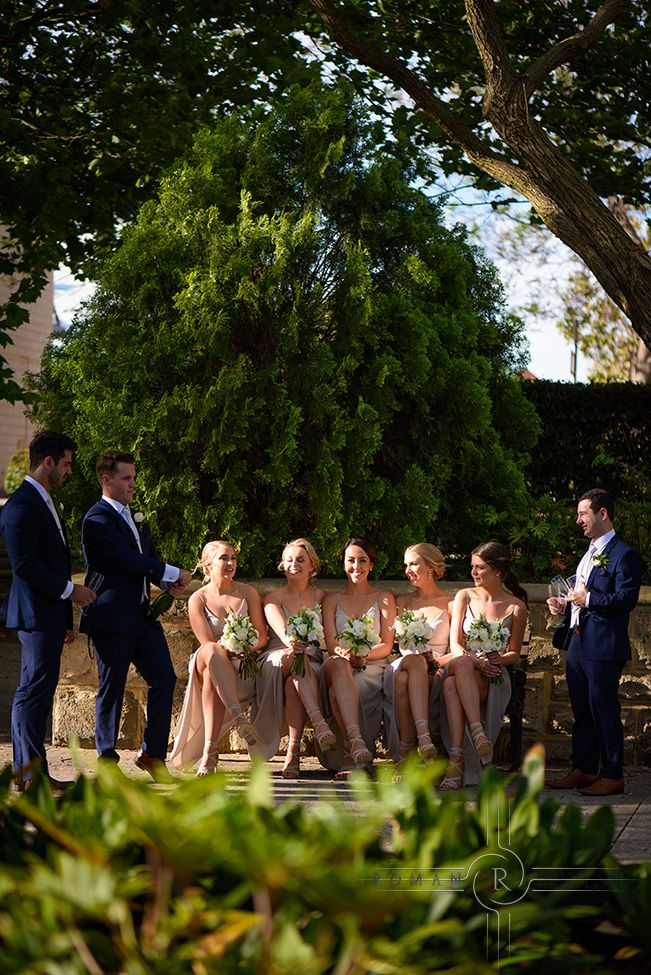 The boys and girls while Darren in taking bride photos