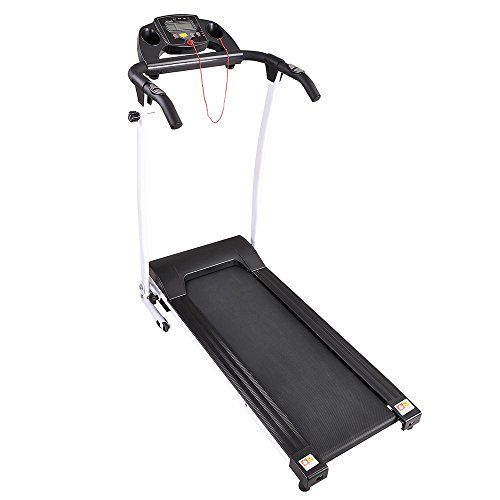Aw 1100w Folding Electric Treadmill Portable Power Motorized Machine Running Jogging Gym Exercise Fitness White Electric Treadmill Treadmill Gym Workouts