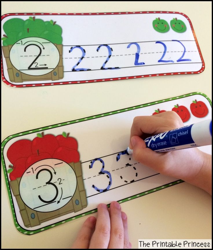 Write and wipe number writing practice.