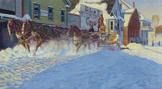 Kevin Mizner - Snow Rolling- Oil - Painting entry - January 2018   BoldBrush Painting Competition