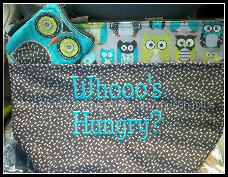 Adorable owl set! Thermal Tote for your lunch, and an Icon Coin Purse for snack money :o)