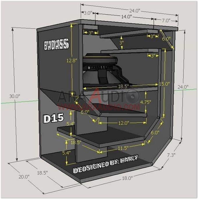 Skema Box Hornsub Hybrid D15 15 Inch Ara Audio Planos De Altavoces Diseno De Altavoces Sistema De Audio