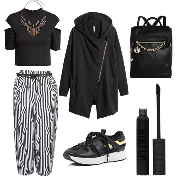 Look 3 by sarahohbaby on Polyvore featuring H&M, Topshop, River Island, black, sporty, PHOENIX, healthgoth and mumslovinglife