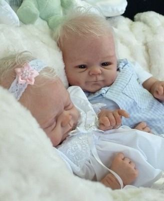 Reborn Babies, Elise Marz Twins By Peaches And Cream. Relisted Due To Timewaster | eBay