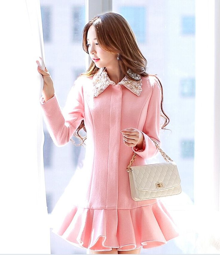 Pink Pearl Trench Designer Dress Coat - Morpheus Boutique
