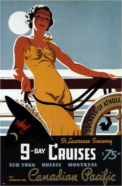 9-Day Cruises / Canadian Pacific - Tom Purvis, 1938