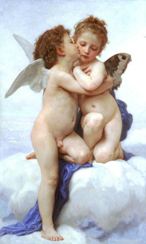 Angels and cherubs prints Angel print Angels by TanabeStudio