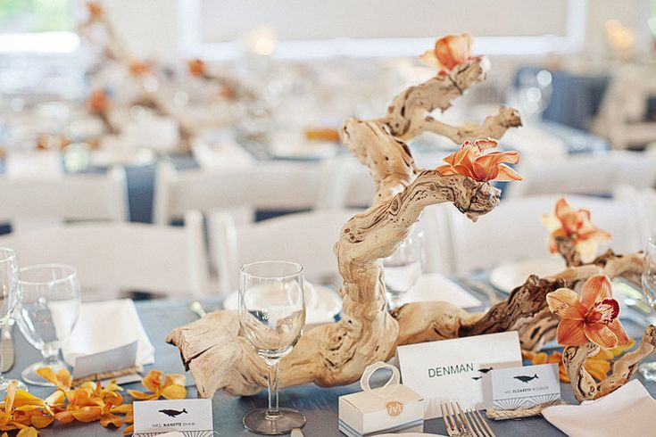 Driftwood centerpieces wedding things pinterest the
