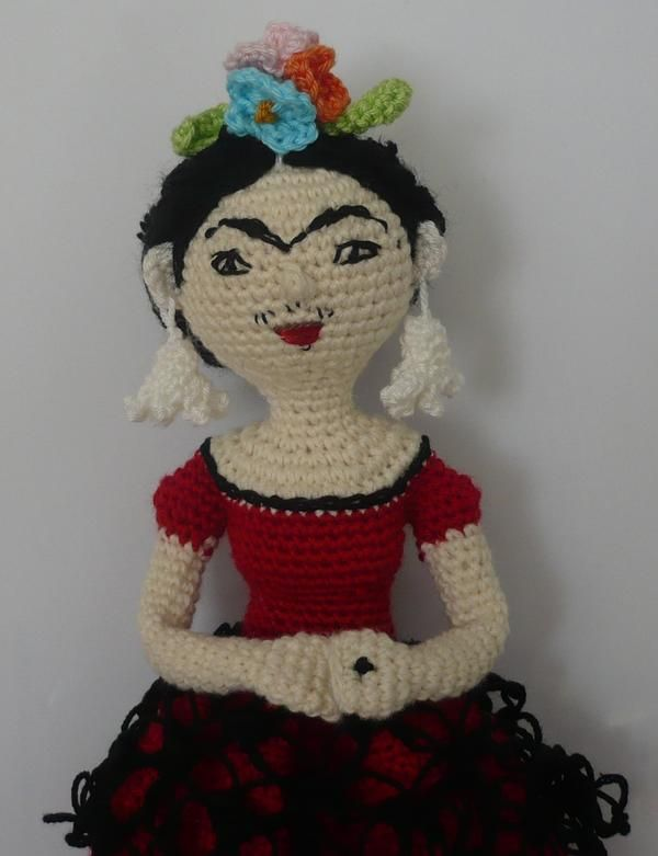 Amigurumi Monster Free Pattern : 117 best images about Frida Kahlo Amigurumi on Pinterest ...