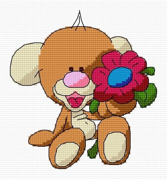 Flower (teddy, for children, stuffed, toy, cuddly)