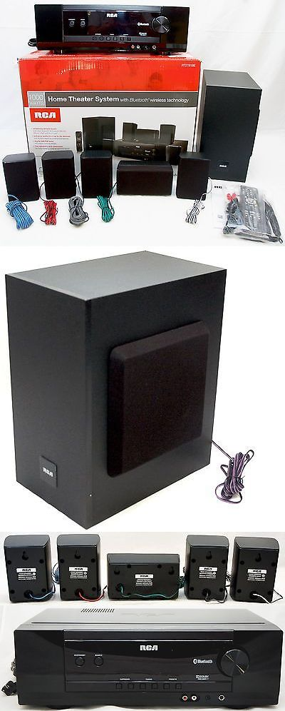 Home Theater Systems: New Rca Rt2781be 1000W Bluetooth Home Theater Sound System 5.1 Ch Dolby Digital -> BUY IT NOW ONLY: $159.95 on eBay!