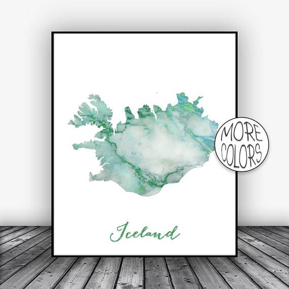 Iceland Print, Watercolor Print, Iceland Map Art, Map Painting, Map Artwork, Country Art, Office Decor, Country Map ArtPrintsZoe #CountryArt #MapPainting #CountryMap #OfficeDecor #Iceland #CountryMapArt #WatercolorPrint #ArtPrint #MapArtPrint #ArtPrintsZoe