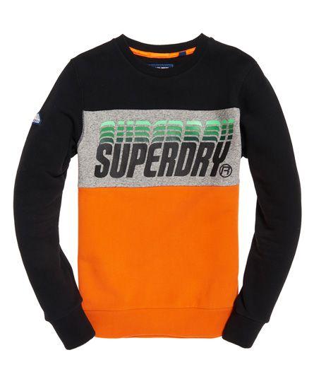 58b1073558abb Superdry Sudadera con cuello redondo y paneles Triple Drop Pop ...