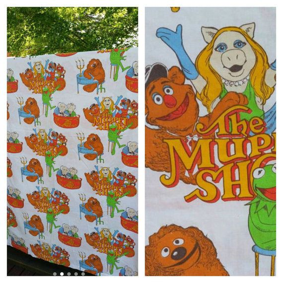 Check out this item in my Etsy shop https://www.etsy.com/ca/listing/279620790/rare-vintage-muppet-blanket-cover-the