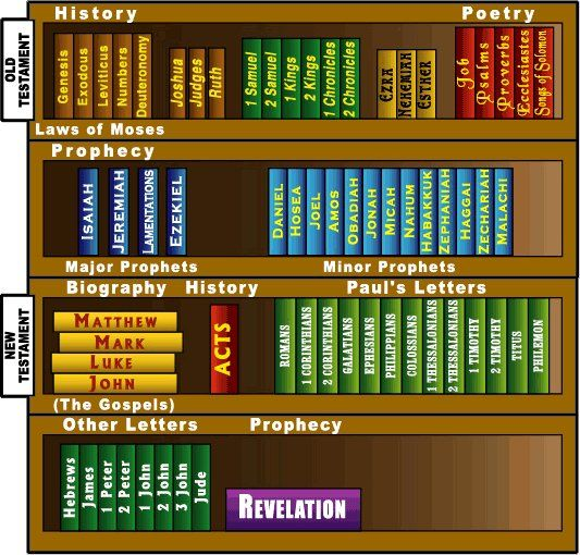 Pretty cool way to see the way the Bible is organized!