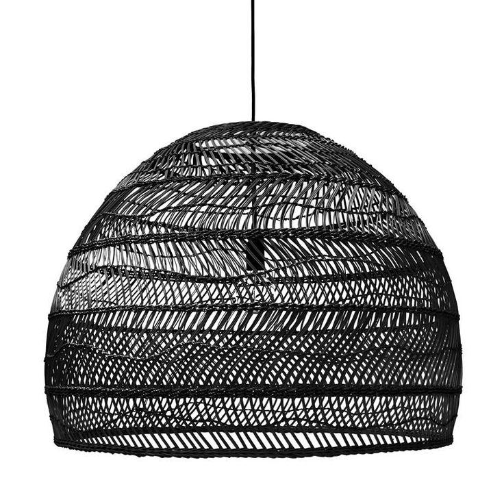 Außergewöhnlich HKliving Wicker Rieten Hanglamp L