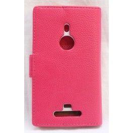 Lumia 925 hot pink lompakkokotelo