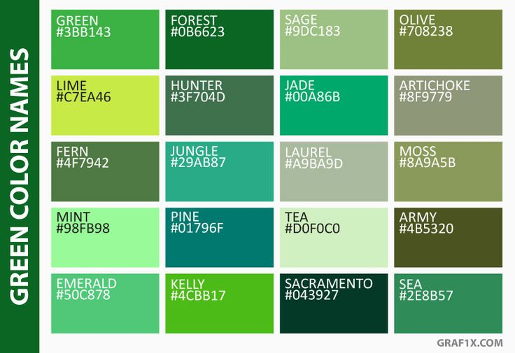 Best 20 green color names ideas on pinterest for Show me the color green