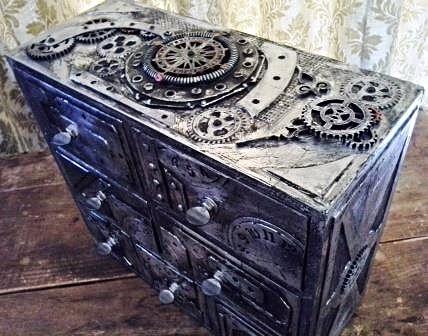 Steampunk drawer chest by Stewart at www.Stewdio61.com