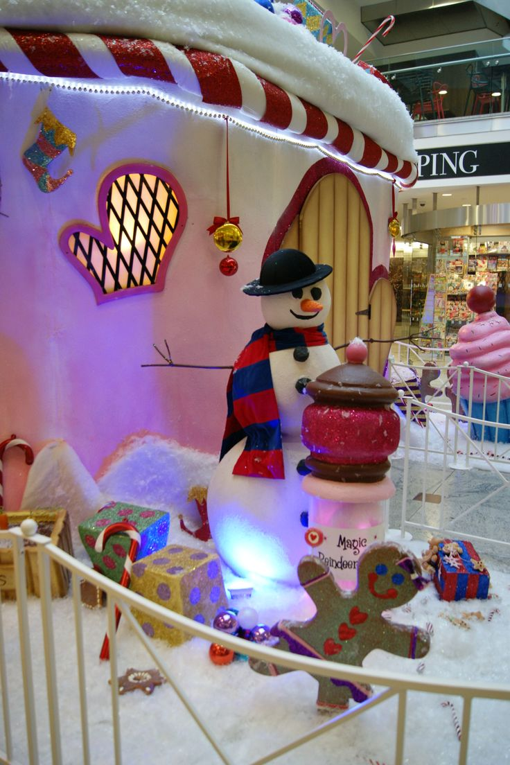 Santa's Grotto at Canary Wharf in London designed by The Whimsical Cake Company