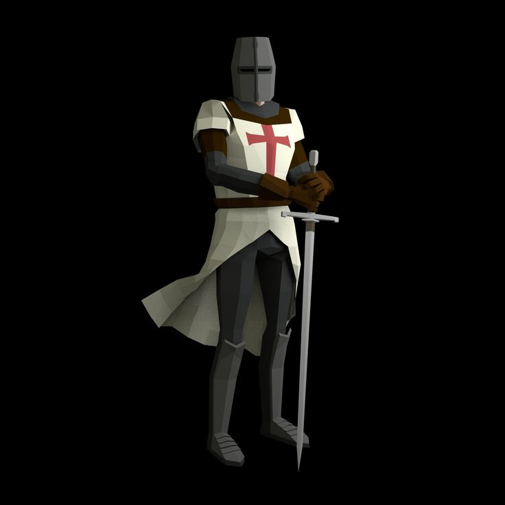 I made a low poly knight planning on making a horse soon
