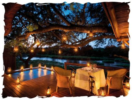 Candle lit dinner for the two of you as you enjoy the cool breeze of #Africa.