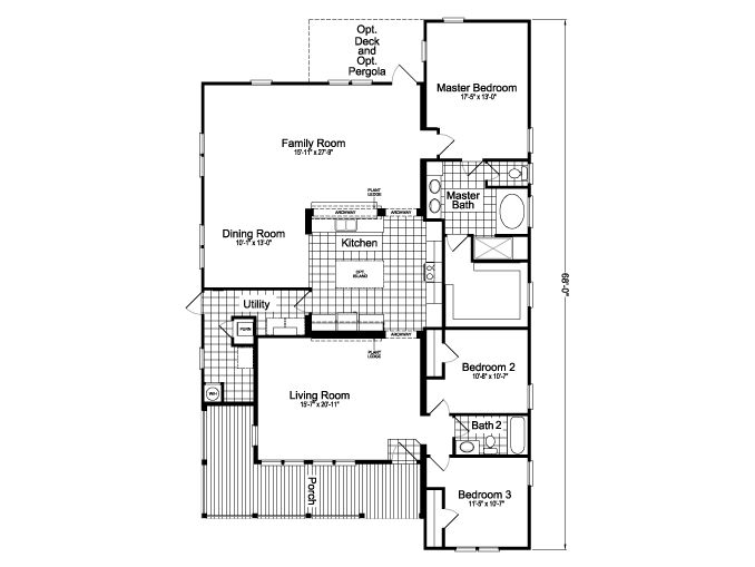 Palm Harbor Texas Floor Plans: >La Linda SCWD68F8